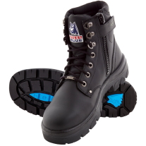 "Steel Blue Argyle Zip 6"" Work Boots - Steel Toe"