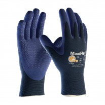 PIP 34-244 Maxiflex Elite Ultra Light Weight Seamless Knit Nylon Glove with Nitrile Coated MicroFoam Grip on Palm & Fingers - Micro Dot Palm, 12 Pairs