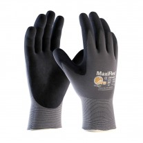 PIP 34-874 Maxiflex Ultimate Seamless Knit Nylon / Lycra Glove with Nitrile Coated MicroFoam Grip on Palm & Fingers, 12 Pairs