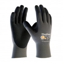 PIP 34-900 Maxifoam Lite Seamless Knit Nylon Glove with Nitrile Coated Foam Grip on Palm & Fingers, 12 Pairs