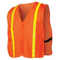 Pyramex RV120 Hi Vis Orange Safety Vest - Universal Fit - With Reflective Tape - Non-Rated