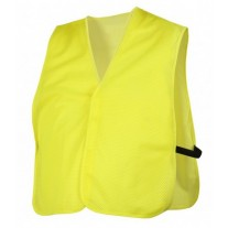 Pyramex RV110NS Hi Vis Yellow Safety Vest - Universal Fit - No Reflective Tape - Non-Rated