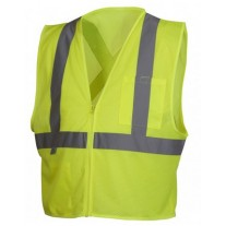 Pyramex RCZ2110 Hi Vis Yellow Safety Vest - X Back - Type R - Class 2