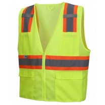 Pyramex RVZ2310 Hi Vis Yellow Safety Vest - Type R - Class 2