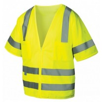 Pyramex RVZ3110 Hi Vis Yellow Safety Vest - Type R - Class 3