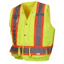 Pyramex RCMS2810 Hi Vis Yellow Surveyor Safety Vest - X Back - Type R - Class 2
