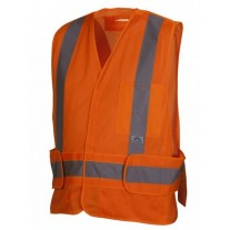 Pyramex RCA2520SE Hi Vis Orange Safety Vest - Non FR Self Extinguishing - Breakaway - X Back - Type R - Class 2