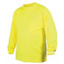 Pyramex RLTS3110NS Hi Vis Yellow Long Sleeve Safety Shirt - Non-Rated