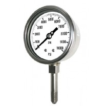 "PIC Gauge 4001-9L, High Pressure, Heavy Duty, 4"" Dial, 9/16-18 MP Male, Lower Mount Conn., Stainless Steel Case, 316 Stainless Steel Internals"