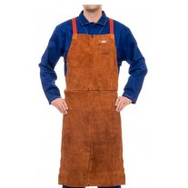 Weldas 44-7142 STEERSOtuff Premium Leather Welding Bib Apron 42""
