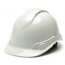 Pyramex HP44110V Ridgeline Vented Hard Hat - Cap Style - 4 Pt Ratchet Suspension - White