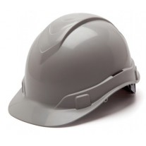 Pyramex HP44112 Ridgeline Hard Hat - Cap Style - 4 Pt Ratchet Suspension - Gray