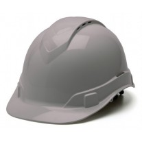 Pyramex HP44112V Ridgeline Vented Hard Hat - Cap Style - 4 Pt Ratchet Suspension - Gray