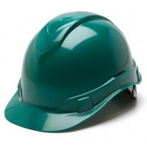 Pyramex HP44135 Ridgeline Hard Hat - Cap Style - 4 Pt Ratchet Suspension - Green