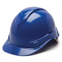 Pyramex HP44160V Ridgeline Hard Hat Vented - Cap Style - 4 Pt Ratchet Suspension - Blue