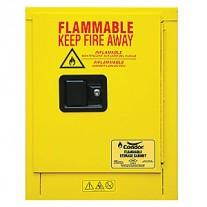 Condor Flammable Safety Cabinet, 4 Gal., Yellow