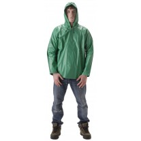 NASCO AcidBasic 512JG Chemical Splash Rainwear - Rain Jacket w/ Attached Hood Only - Kelly Green