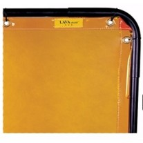 Weldas 55-5468 (Non-CE) Yellow High-Visibility LAVAshield Welding Screen Only - 6' x 8'