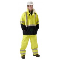 NASCO Omega 5503JNFY FR Rainwear - Waist Length Jacket Only - Hi Vis Yellow