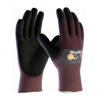 PIP 56-425 Maxidry Ultra Lightweight Nitrile Glove, 3/4 Dipped with Seamless Knit Nylon / Lycra Liner and Non-Slip Grip on Palm & Fingers, 12 Pairs