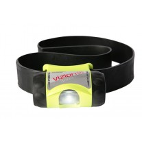Underwater Kinetics 517007 Flashlight - 3AAA Vizion I Headlamp with Rubber Strap - DIV1 - Safety Yellow