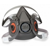 3M 6000 Series TPE Half Mask Facepiece Respirator - Filter Not Included - Small