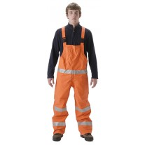 NASCO PetroLite 9000TBO245 FR Rainwear - Bib Style Trouser Only - Hi Vis Orange