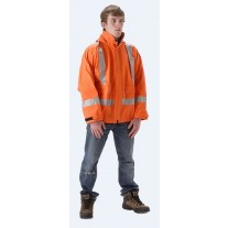NASCO PetroLite 9003JBO245 FR Rainwear - Waist Length Jacket Only - Hi Vis Orange