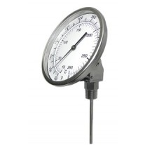 "PIC Bimetal Dial Type Thermometer - 5"" Dial - 4"" Stem - Adjustable Angle"