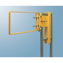 Fabenco A71-21PC Self Closing Safety Gate A36 Carbon Steel with Safety Yellow Powder Coat, Fits 22-24.5'' Opening