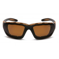 Carhartt CHB418DTP Carthage Safety Glasses - Black / Tan Frame - Sandstone Bronze Anti-Fog Lens