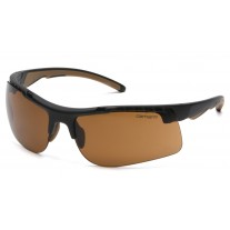 Carhartt CHB718DT Rockwood Safety Glasses Black Frame Sandstone Bronze Lens Anti-Fog