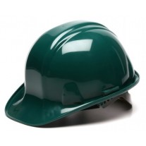 Pyramex HP14035 SL Series Hard Hat - Cap Style - 4 Point Snap Lock Suspension - Green