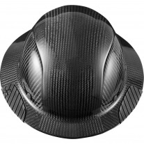 Lift Safety DAX Carbon Fiber Full Brim Hard Hat, Gloss Black