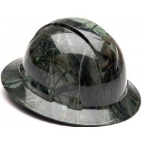 Pyramex Ridgeline Deep Woods Camo Hard Hat - Full Brim - 4Pt Ratchet Suspension - (CLOSEOUT - LIMITED STOCK AVAILABLE)