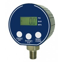 "PIC Digital Pressure Gauge, 3"" Dial, 1/4"" NPT Lower Mount Conn., Black Aluminm Case, 304L / 316L Stainless Steel Internals"