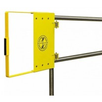 """Fabenco G72-27PC Self Closing Safety Gate A36 Carbon Steel with Safety Yellow Powder Coat, Fits 24"""" – 30"""" Opening"""