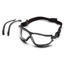 Pyramex PYGB1810ST V2G Safety Glasses, Black Frame, Clear Lens, Anti-Fog, 1 Pair