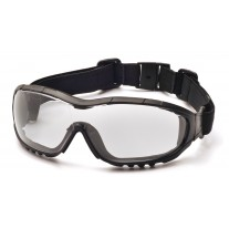Pyramex GB8210STK V3G Safety Glasses Black Frame Clear Lens H2XMAX Anti-Fog - (CLOSEOUT - LIMITED STOCK AVAILABLE)