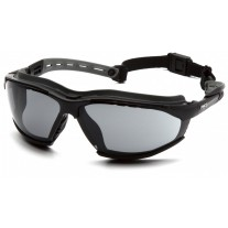 Pyramex GB9420STM Isotope Safety Glasses/Goggles - Black Frame w/ Rubber Gasket - Gray H2MAX Anti-Fog Lens