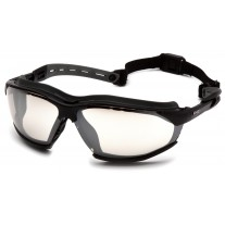 Pyramex GB9480ST Isotope Safety Goggles Black Frame w/ Rubber Gasket - Indoor/Outdoor Anti-Fog Lens
