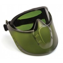 Pyramex Capstone Goggle - 3.0 IR Filter Anti-Fog Lens with Green Tinted Face Shield Attachment
