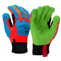 Pyramex GL804C Insulated Corded Cotton TPR Glove - A3 Cut Resistant - Pair -XLarge