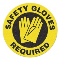 SAFETY GLOVES REQUIRED Safety Floor Graphic, Anti-Slip