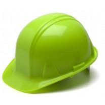 Pyramex SL Series Cap Style Hard Hat Standard Shell 4 Pt - Snap Lock Suspension, Hi Vis Lime, HP14031