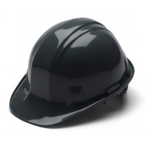 Pyramex SL Series Cap Style Hard Hat Standard Shell 4 Pt Ratchet Suspension, Black, HP14111