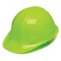 Pyramex HP14131 SL Series Hard Hat - Cap Style - Standard Shell 4 Pt Ratchet Suspension - Hi Vis Lime
