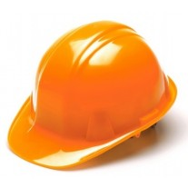 Pyramex SL Series Cap Style Hard Hat Standard Shell 4 Pt Ratchet Suspension, Hi Vis Orange, HP14141