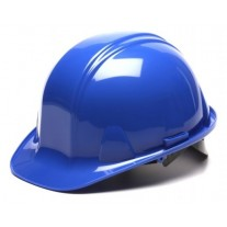 Pyramex SL Series Cap Style Hard Hat Standard Shell 4 Pt Ratchet Suspension, Blue, HP14160