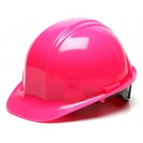 Pyramex HP14170 SL Series Hard Hat - Cap Style - Standard Shell 4 Pt Ratchet Suspension - Hi Vis Pink
